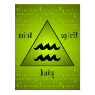 Verde holístico del alcohol del cuerpo de la mente postales