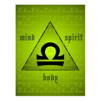 Verde holístico del alcohol del cuerpo de la mente tarjeta postal