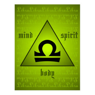 Verde holístico del alcohol del cuerpo de la mente tarjetas postales