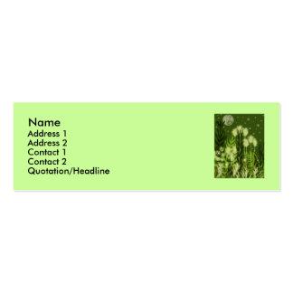 Verde ideal tarjetas de visita mini