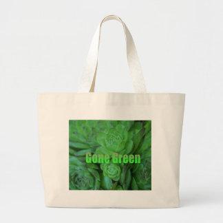 Verde ido 1 bolsa de tela grande