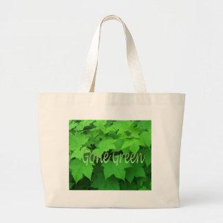 Verde ido 2 bolsa de tela grande
