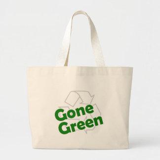 verde ido bolsa de tela grande