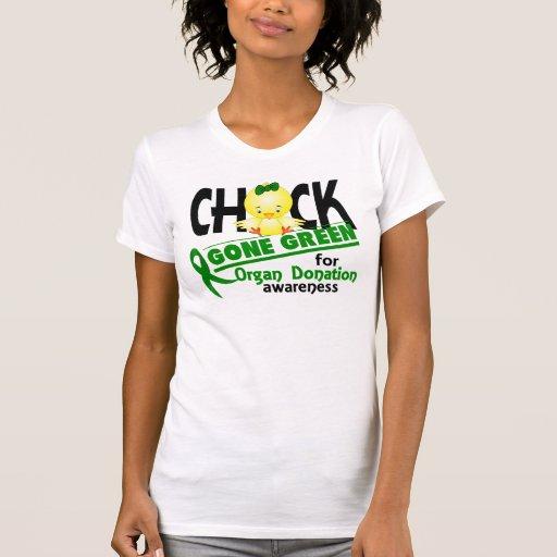 Verde ido polluelo 2 de la donación de órganos camisetas