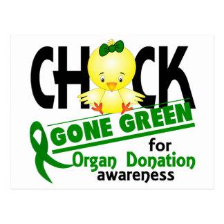 Verde ido polluelo 2 de la donación de órganos postales