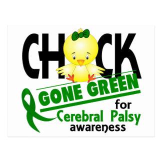 Verde ido polluelo 2 de la parálisis cerebral postal