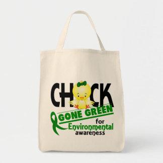 Verde ido polluelo ambiental 2 bolsas de mano