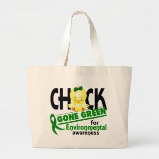 Verde ido polluelo ambiental 2 bolsa de mano