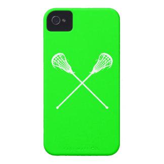 Verde intrépido de los palillos de Blackberry iPhone 4 Case-Mate Funda