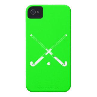 Verde intrépido del hockey hierba de Blackberry Case-Mate iPhone 4 Cárcasa