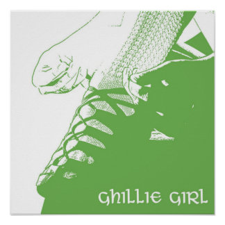 Verde irlandés del chica de Ghillie del bailarín Impresiones