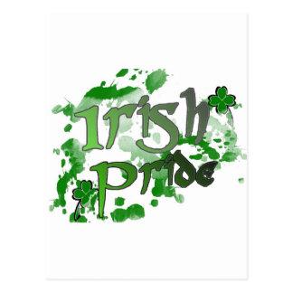 Verde irlandés del corrimiento del orgullo postal