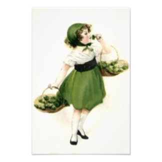 Verde irlandés del trébol del florista cojinete