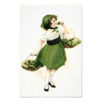 Verde irlandés del trébol del florista arte fotográfico