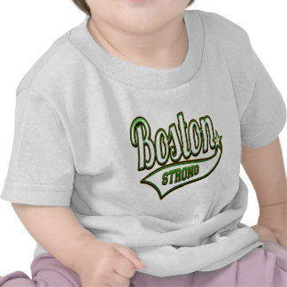 VERDE irlandés fuerte de Boston Camisetas