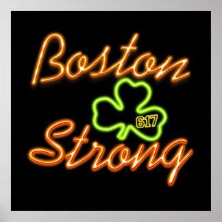 VERDE irlandés fuerte de Boston Póster