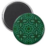 Verde irlandés imán de frigorífico