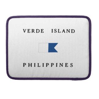 Verde Island Philippines Alpha Dive Flag MacBook Pro Sleeve