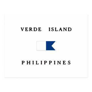 Verde Island Philippines Alpha Dive Flag Postcard
