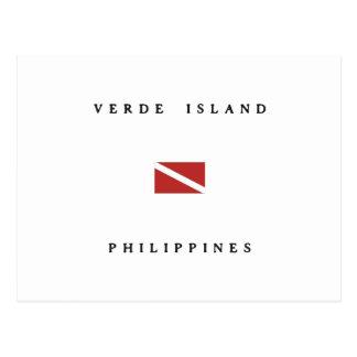Verde Island Philippines Scuba Dive Flag Postcard