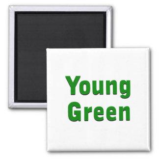 Verde joven imán cuadrado