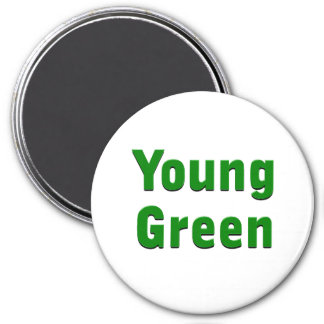Verde joven imán redondo 7 cm