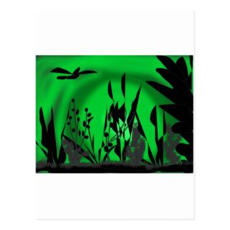 -verde-laguna tarjeta postal