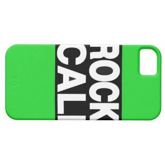 Verde largo de Cali de la roca iPhone 5 Protectores