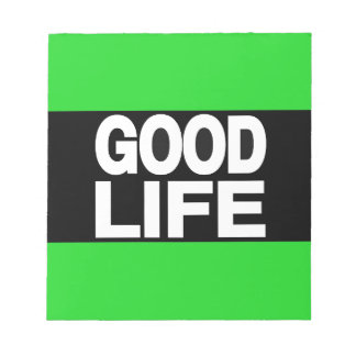 Verde largo de la buena vida bloc de papel