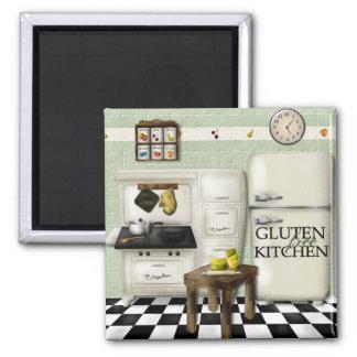 Verde libre de la cocina del gluten imán para frigorífico