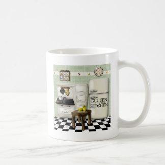 Verde libre de la cocina del gluten tazas de café