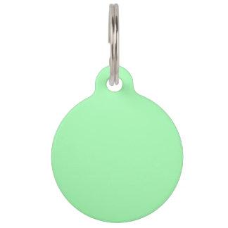 Verde ligero de Seafoam coloreado Placa Para Mascotas