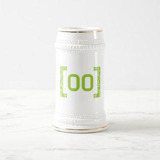 Verde lima #00 jarra de cerveza