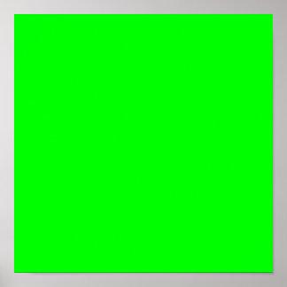 verde lima 00FF00 Poster