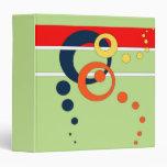 """Verde lima 1,5"""" carpeta de Avery con los círculos"""