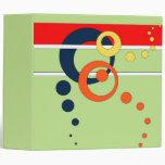 """Verde lima 2"""" carpeta de Avery con los círculos"""