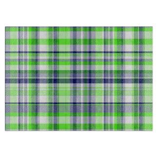 Verde lima, azul marino, tela escocesa de muy buen tablas para cortar
