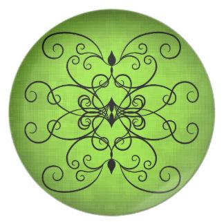 Verde lima bonita plato