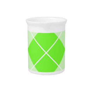 Verde lima brillante Argyle Jarras