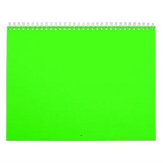 Verde lima calendario de pared