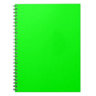 Verde lima libros de apuntes con espiral