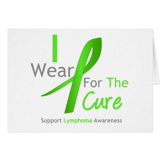 Verde lima del desgaste del linfoma I para la cura Felicitacion