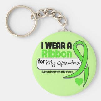 Verde lima del desgaste del linfoma I para mi abue Llavero Personalizado