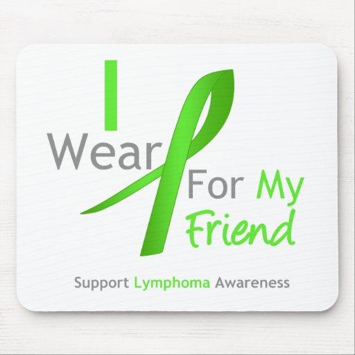 Verde lima del desgaste del linfoma I para mi amig Tapetes De Ratón