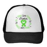Verde lima del desgaste del linfoma I para mi herm Gorras De Camionero