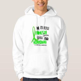 Verde lima del desgaste del linfoma I para mi hija Sudadera Con Capucha