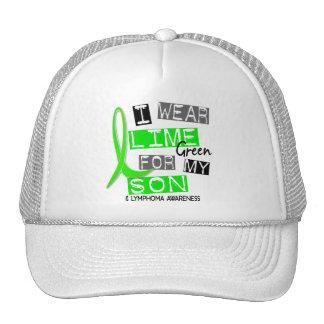 Verde lima del desgaste del linfoma I para mi hijo Gorros