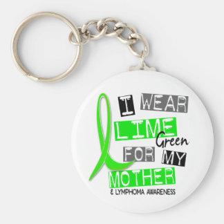 Verde lima del desgaste del linfoma I para mi madr Llavero Redondo Tipo Pin