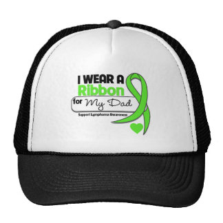 Verde lima del desgaste del linfoma I para mi papá Gorras