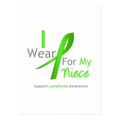Verde lima del desgaste del linfoma I para mi Postales